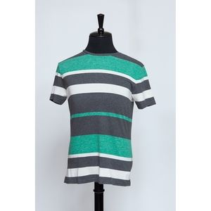 Green, White and Gray Striped Tee (Item No 365)